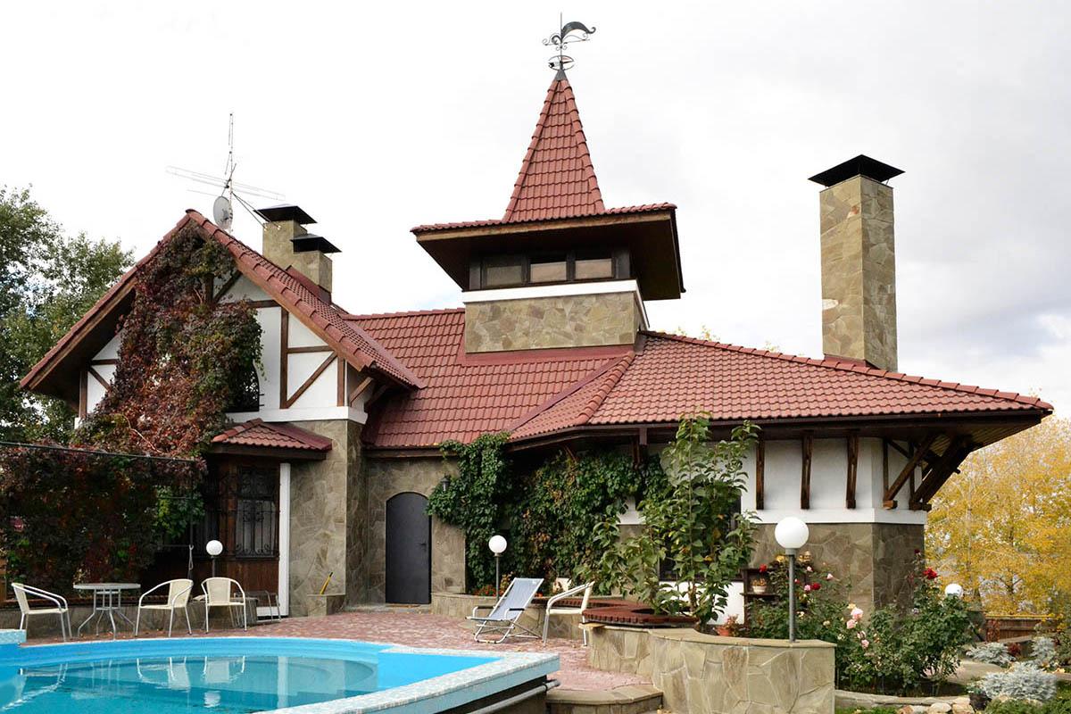 индивидуальный жилой дом в стиле шале вид1