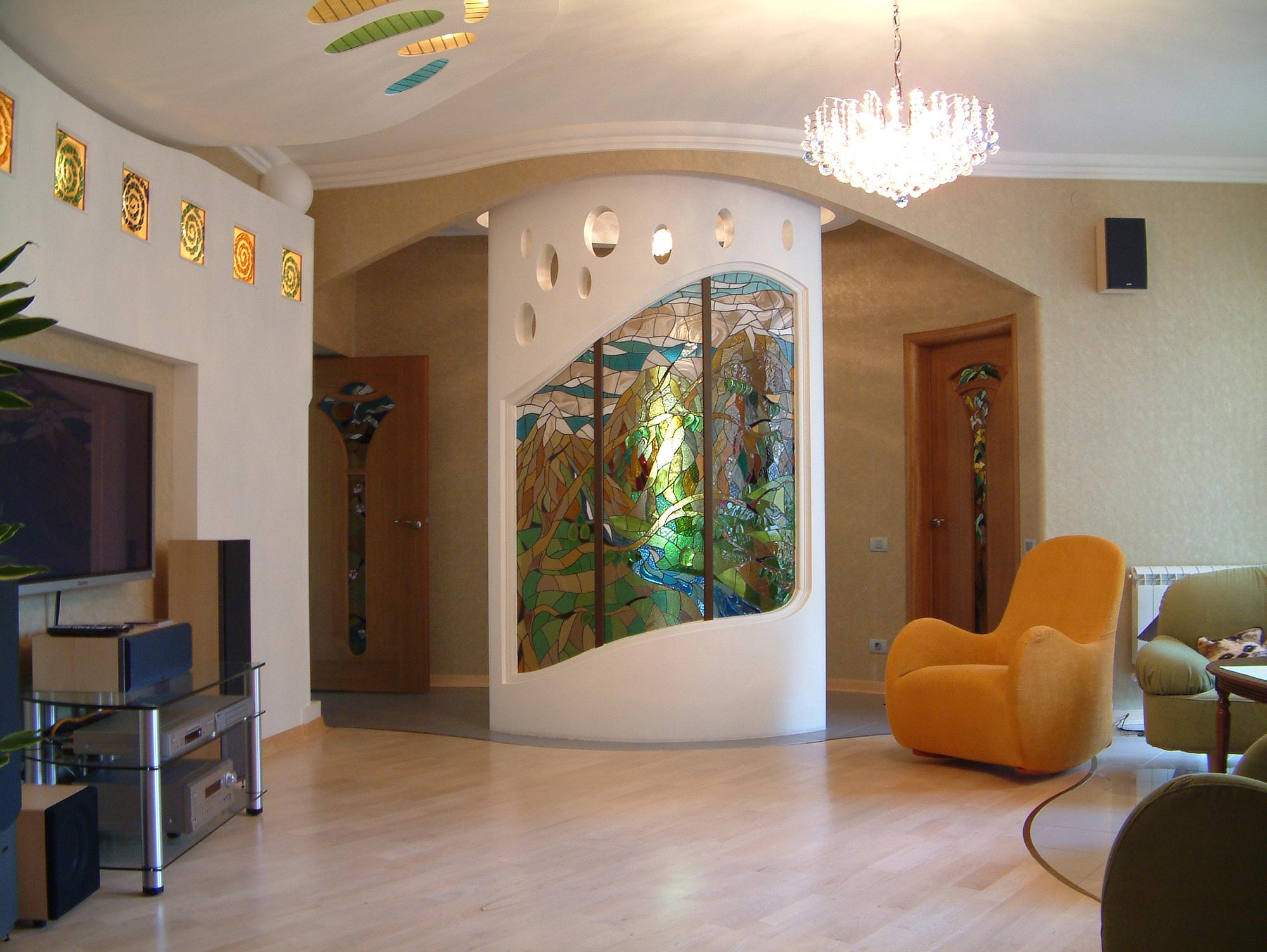 интерьер квартиры с элементами модерна вид7