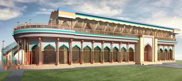 проект узбекского кафе